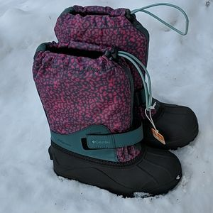 Columbia Girls Snow Boots Size 2 New -45 F Rated